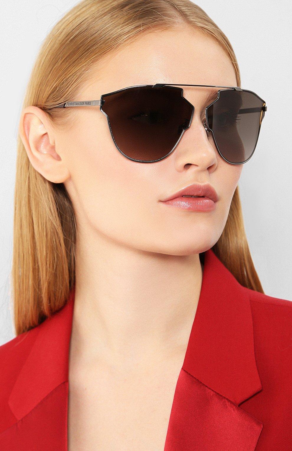 Женские солнцезащитные очки DIOR серого цвета, арт. DI0RS0REALFAST KJ1   Фото 2