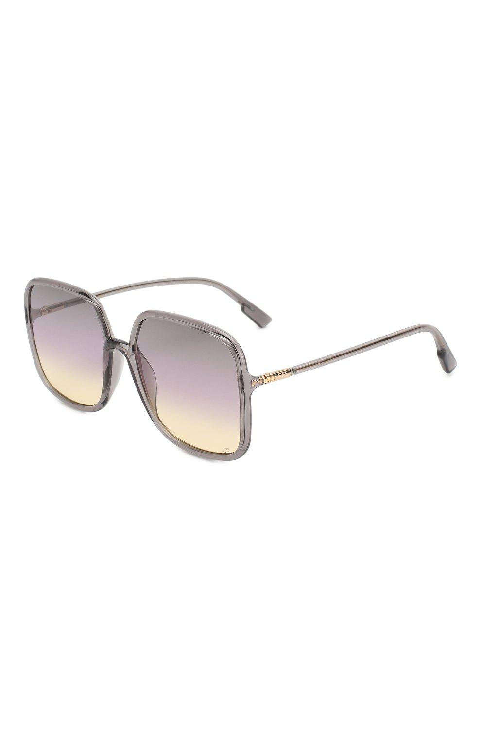 Женские солнцезащитные очки DIOR светло-серого цвета, арт. S0STELLAIRE1 KB7 | Фото 1