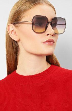 Женские солнцезащитные очки DIOR светло-серого цвета, арт. S0STELLAIRE1 KB7 | Фото 2