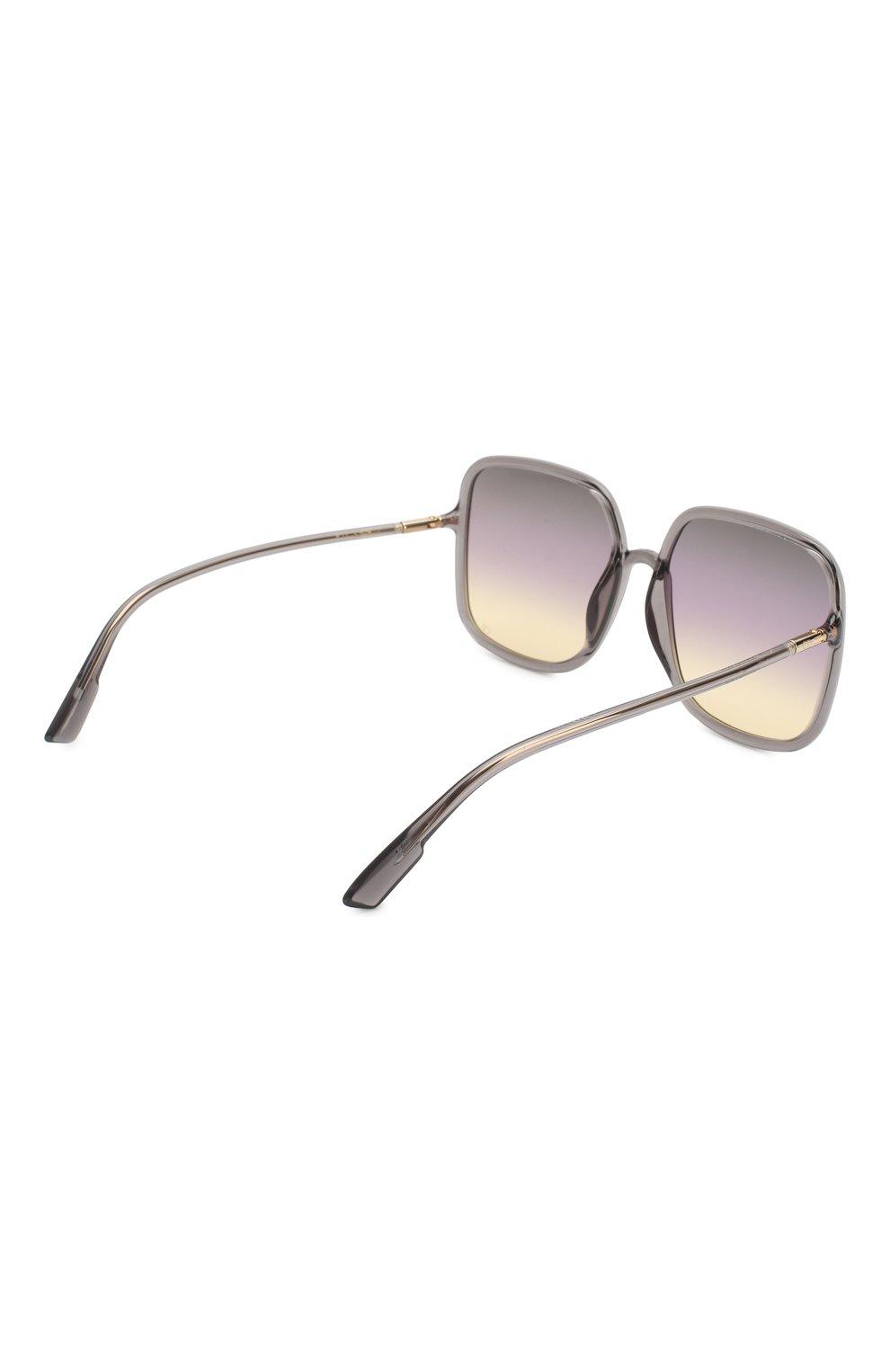 Женские солнцезащитные очки DIOR светло-серого цвета, арт. S0STELLAIRE1 KB7 | Фото 4