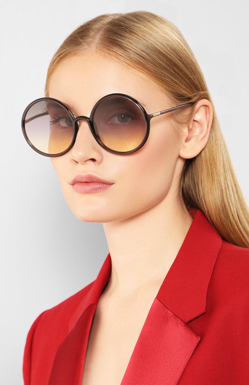 Женские солнцезащитные очки DIOR серого цвета, арт. S0STELLAIRE3 KB7 | Фото 2