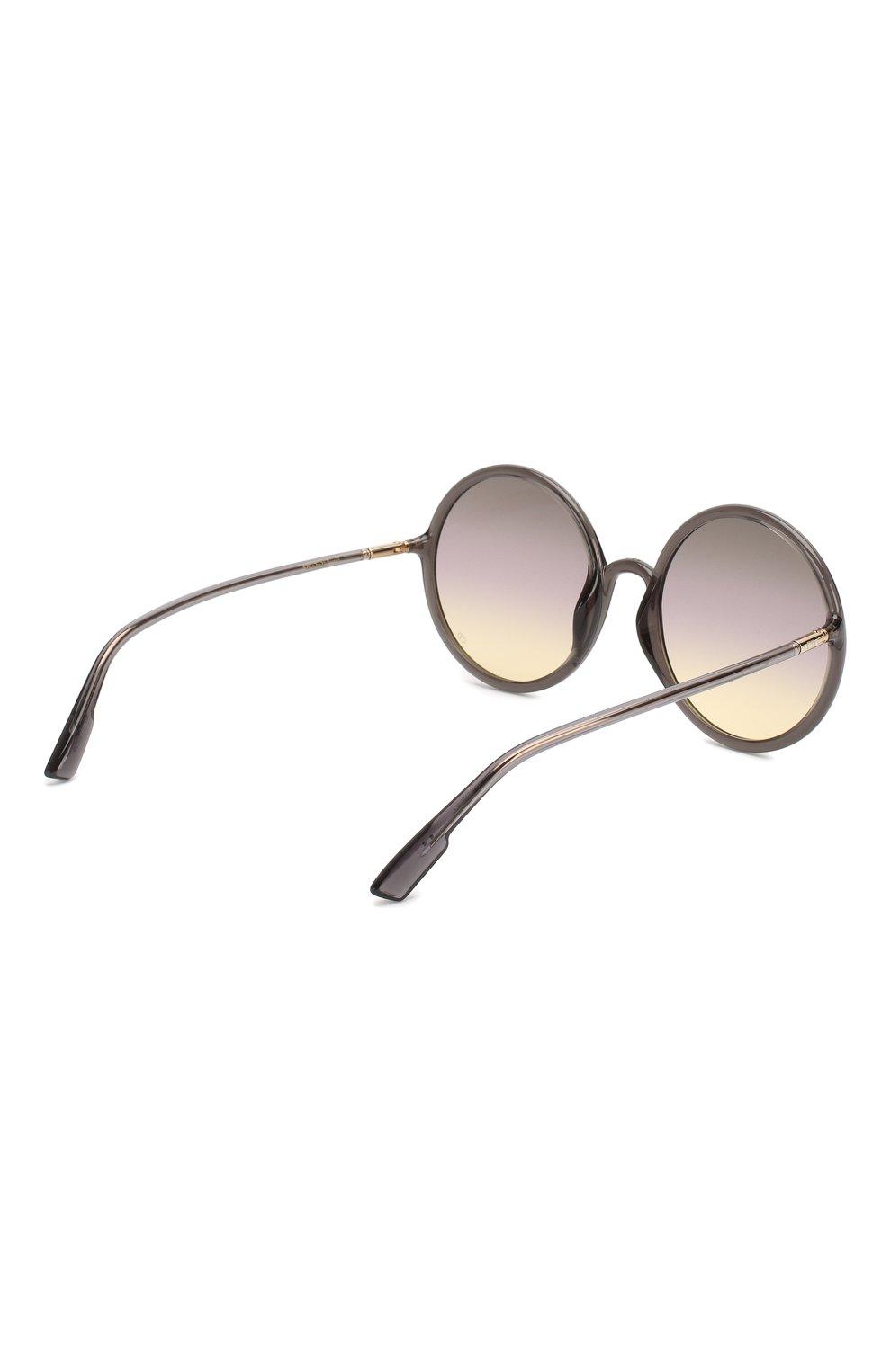 Женские солнцезащитные очки DIOR серого цвета, арт. S0STELLAIRE3 KB7 | Фото 4