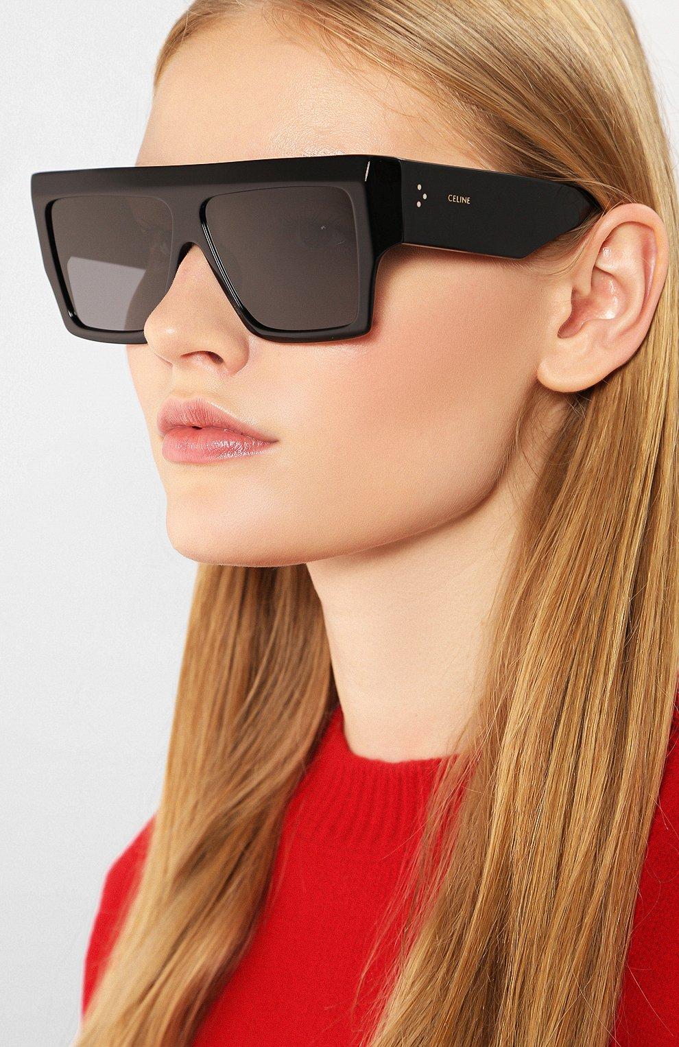 Женские солнцезащитные очки CELINE EYEWEAR черного цвета, арт. CL40092I 01A | Фото 2