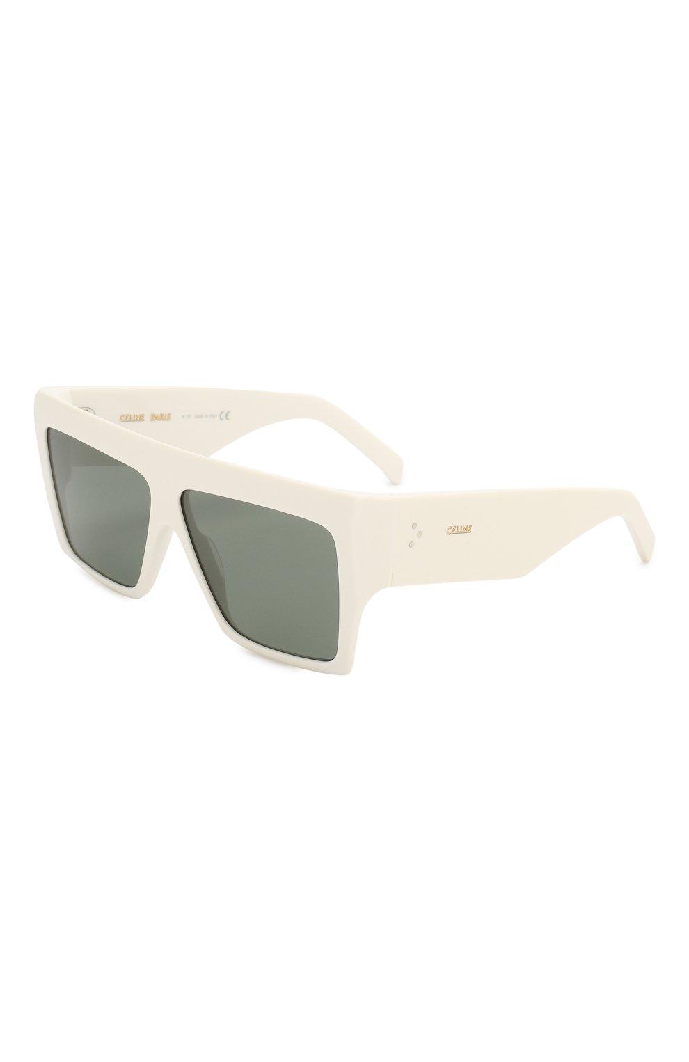Женские солнцезащитные очки CELINE EYEWEAR белого цвета, арт. CL40092I 21N | Фото 1