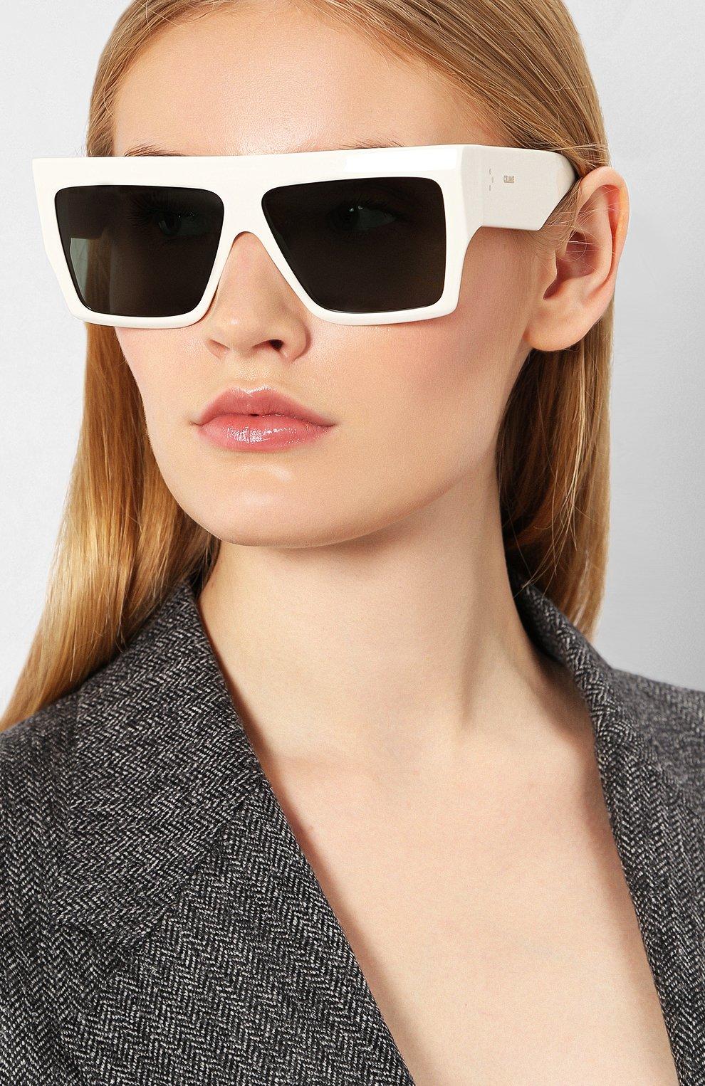 Женские солнцезащитные очки CELINE EYEWEAR белого цвета, арт. CL40092I 21N | Фото 2