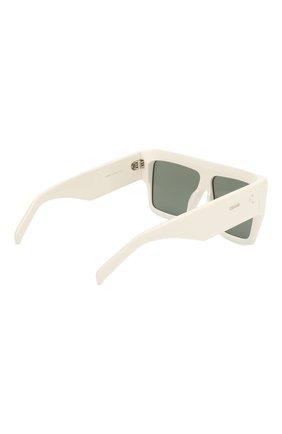 Женские солнцезащитные очки CELINE EYEWEAR белого цвета, арт. CL40092I 21N | Фото 4