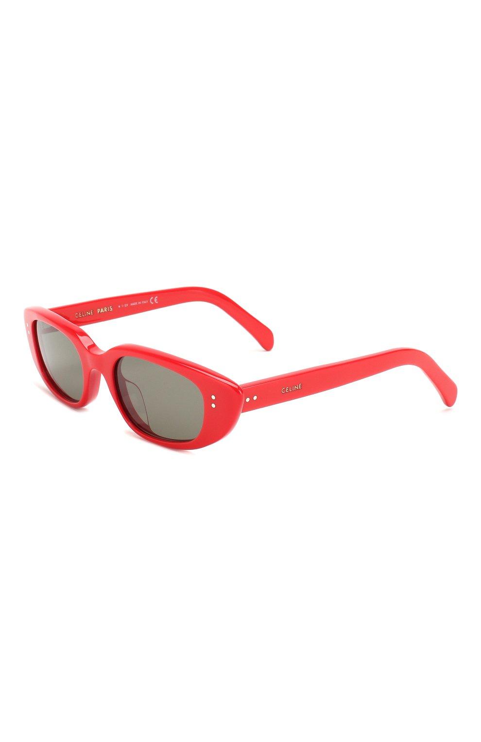 Женские солнцезащитные очки CELINE EYEWEAR красного цвета, арт. CL40095U 68N | Фото 1