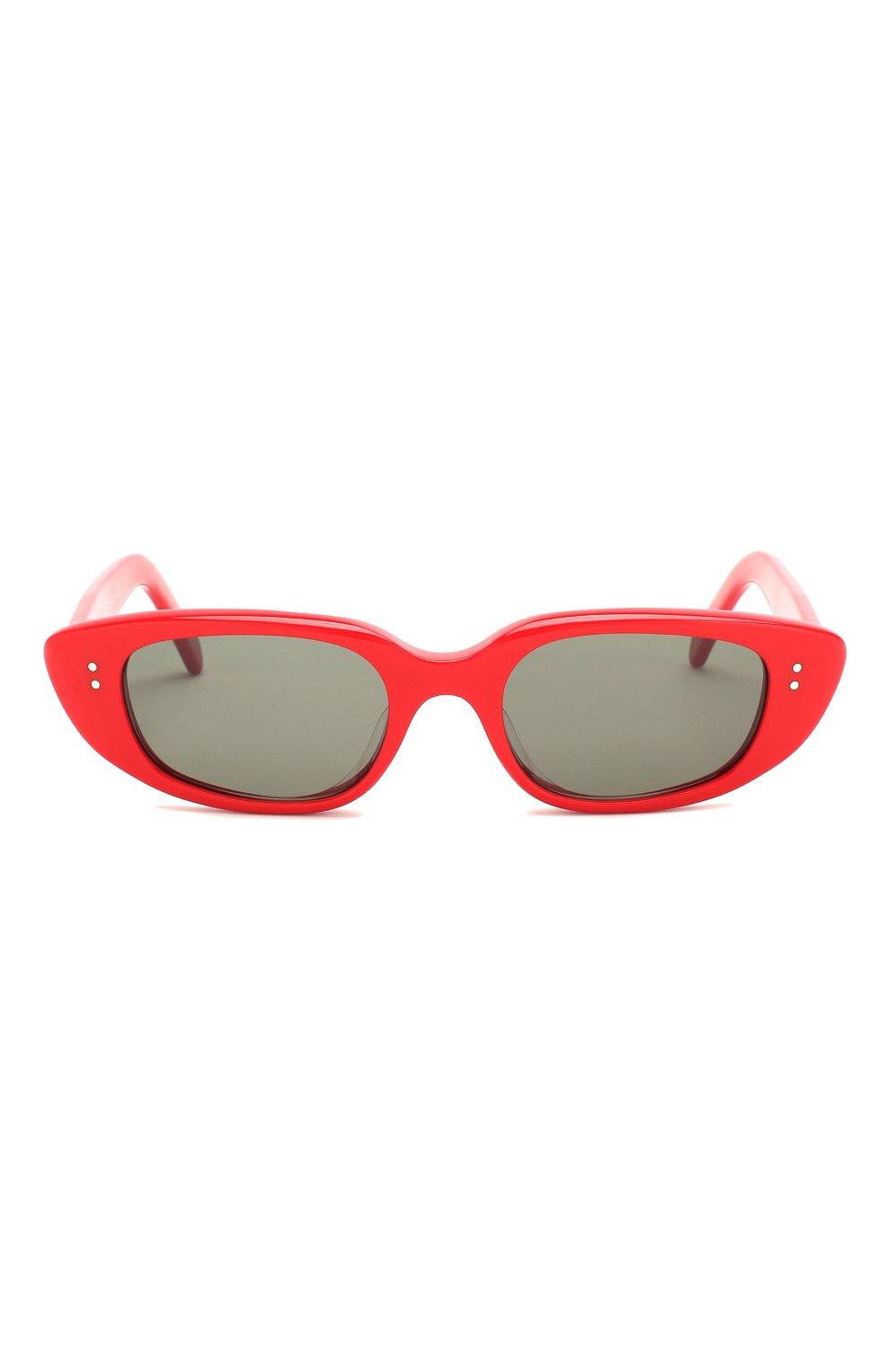 Женские солнцезащитные очки CELINE EYEWEAR красного цвета, арт. CL40095U 68N | Фото 3