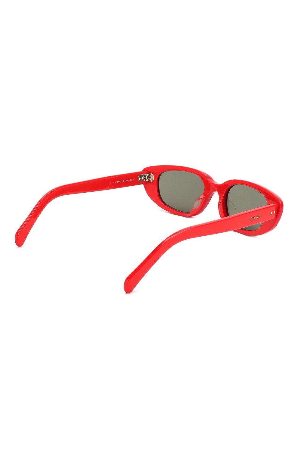 Женские солнцезащитные очки CELINE EYEWEAR красного цвета, арт. CL40095U 68N | Фото 4