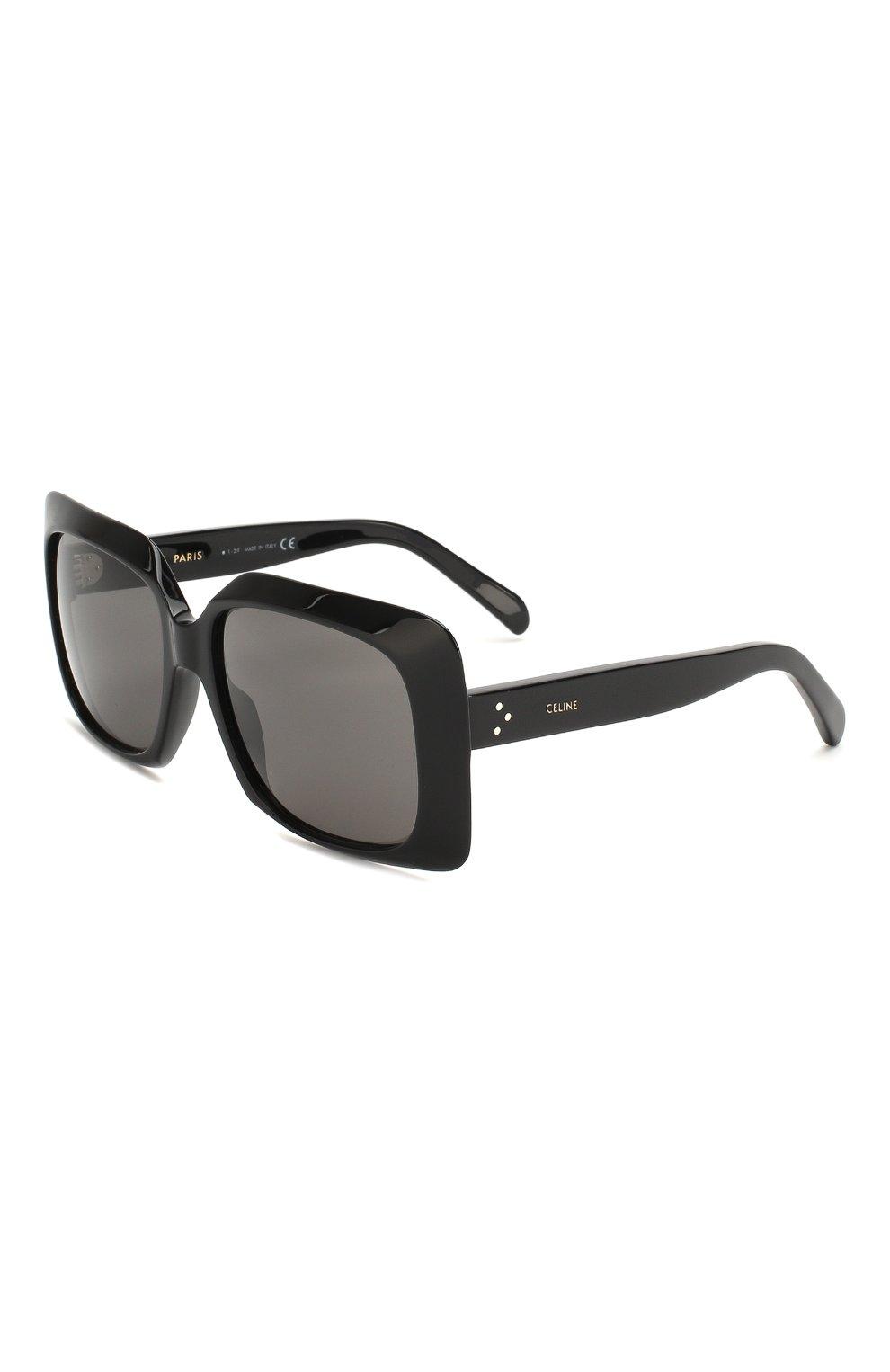 Женские солнцезащитные очки CELINE EYEWEAR черного цвета, арт. CL40096I 01A | Фото 1