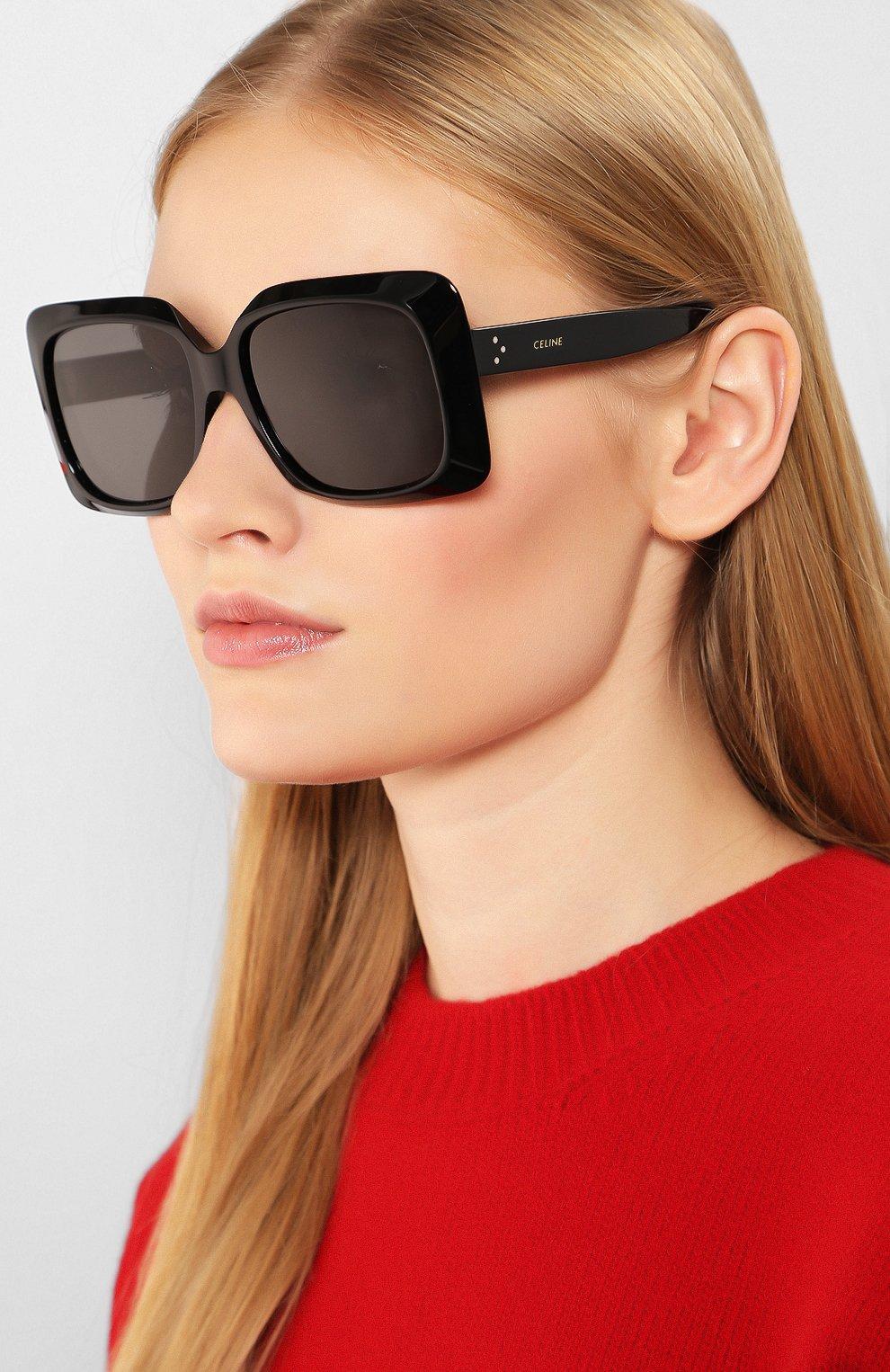 Женские солнцезащитные очки CELINE EYEWEAR черного цвета, арт. CL40096I 01A | Фото 2