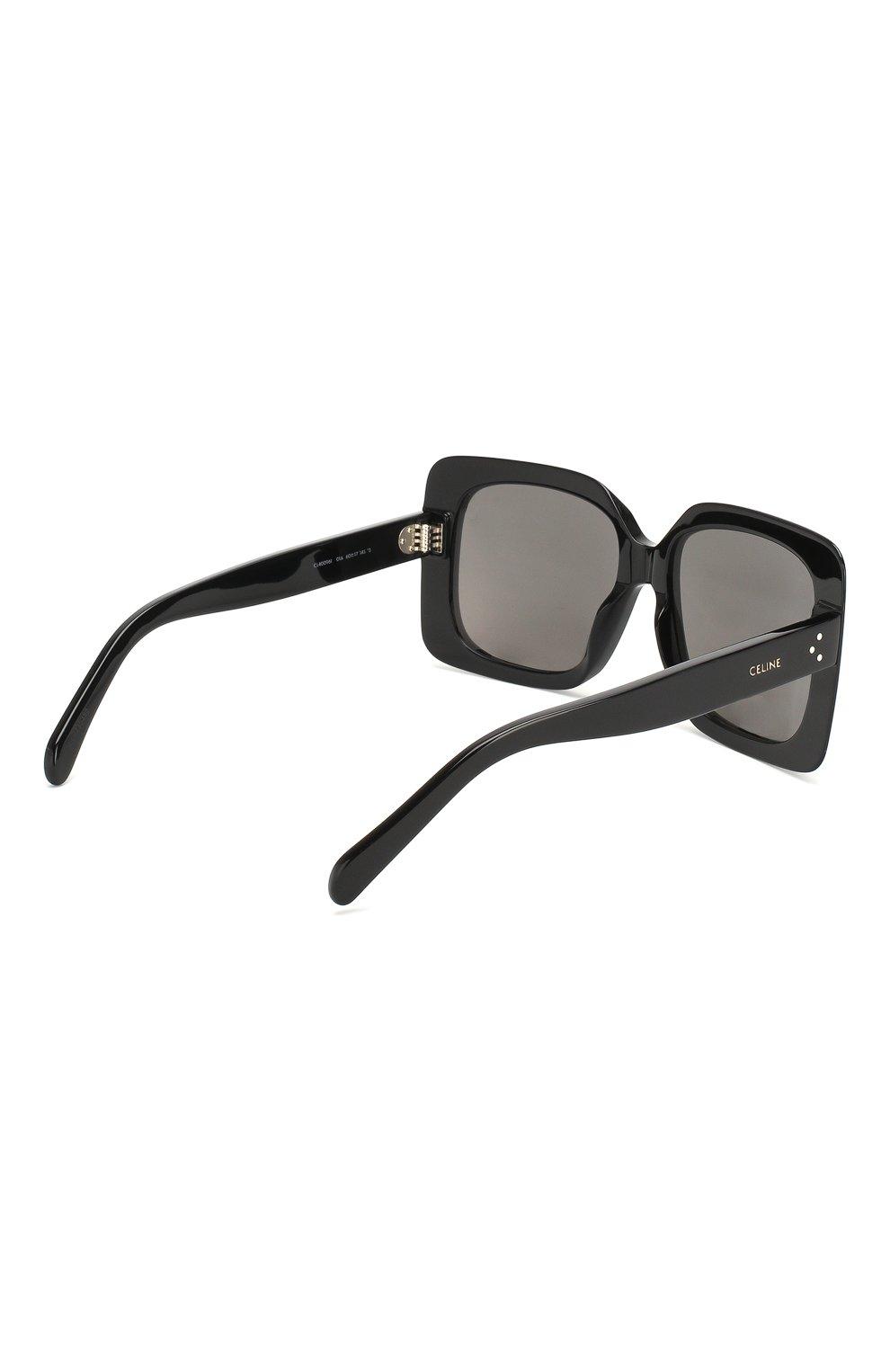 Женские солнцезащитные очки CELINE EYEWEAR черного цвета, арт. CL40096I 01A | Фото 4