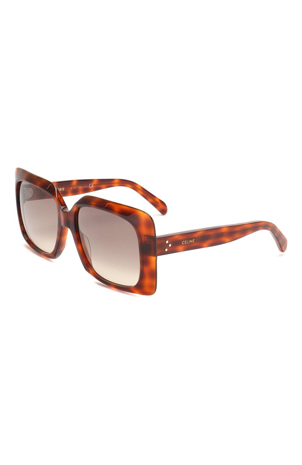 Женские солнцезащитные очки CELINE EYEWEAR коричневого цвета, арт. CL40096I 55F | Фото 1