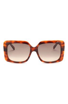 Женские солнцезащитные очки CELINE EYEWEAR коричневого цвета, арт. CL40096I 55F | Фото 3