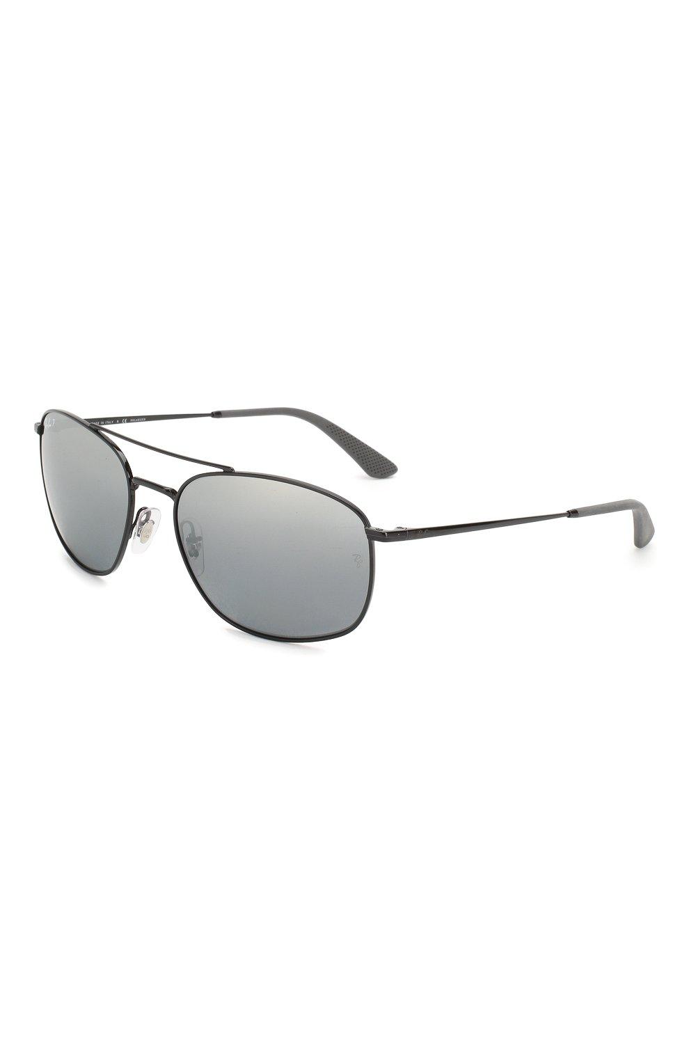 Мужские солнцезащитные очки RAY-BAN черного цвета, арт. 3654-002/82 | Фото 1