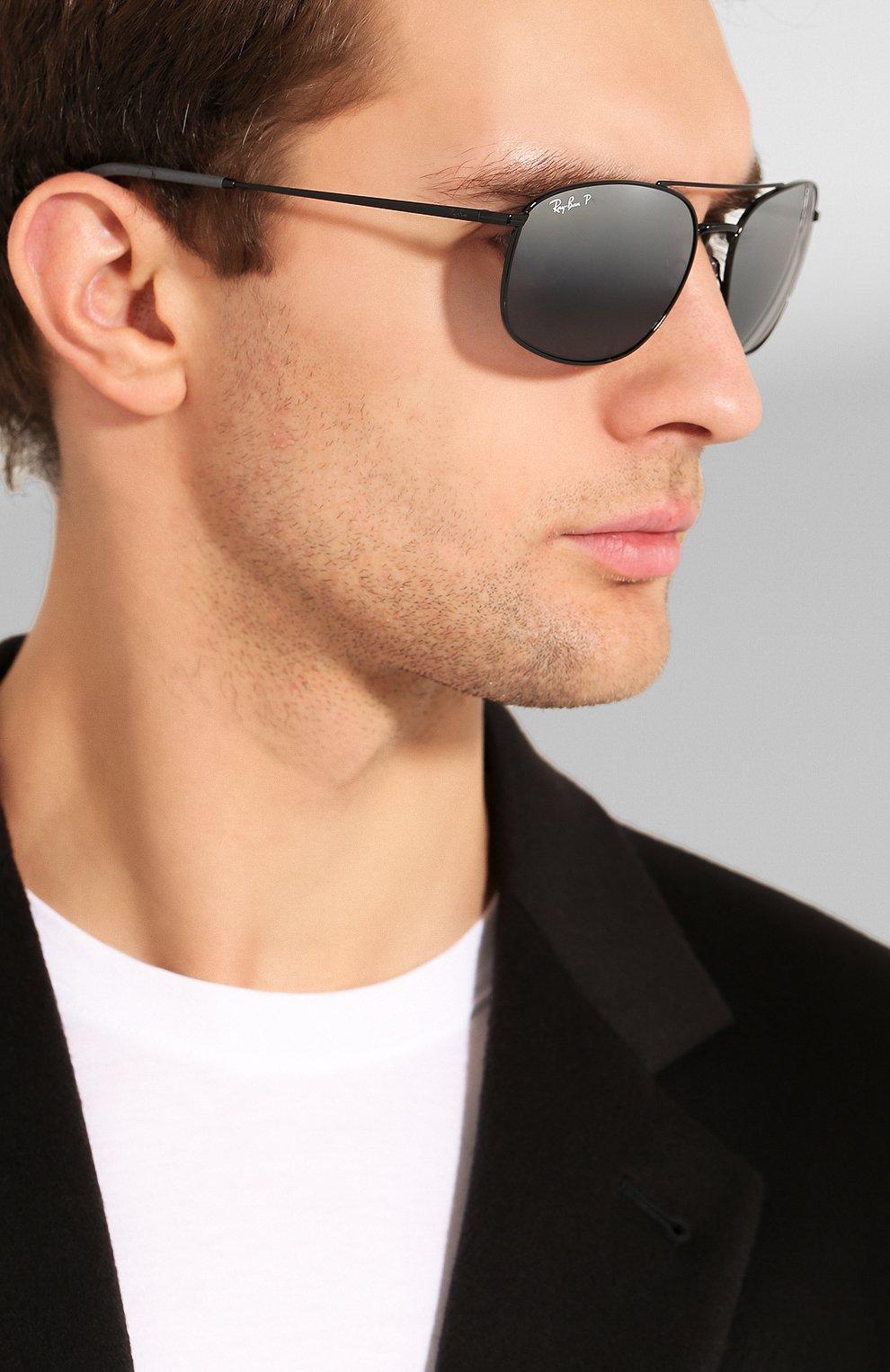 Мужские солнцезащитные очки RAY-BAN черного цвета, арт. 3654-002/82 | Фото 2