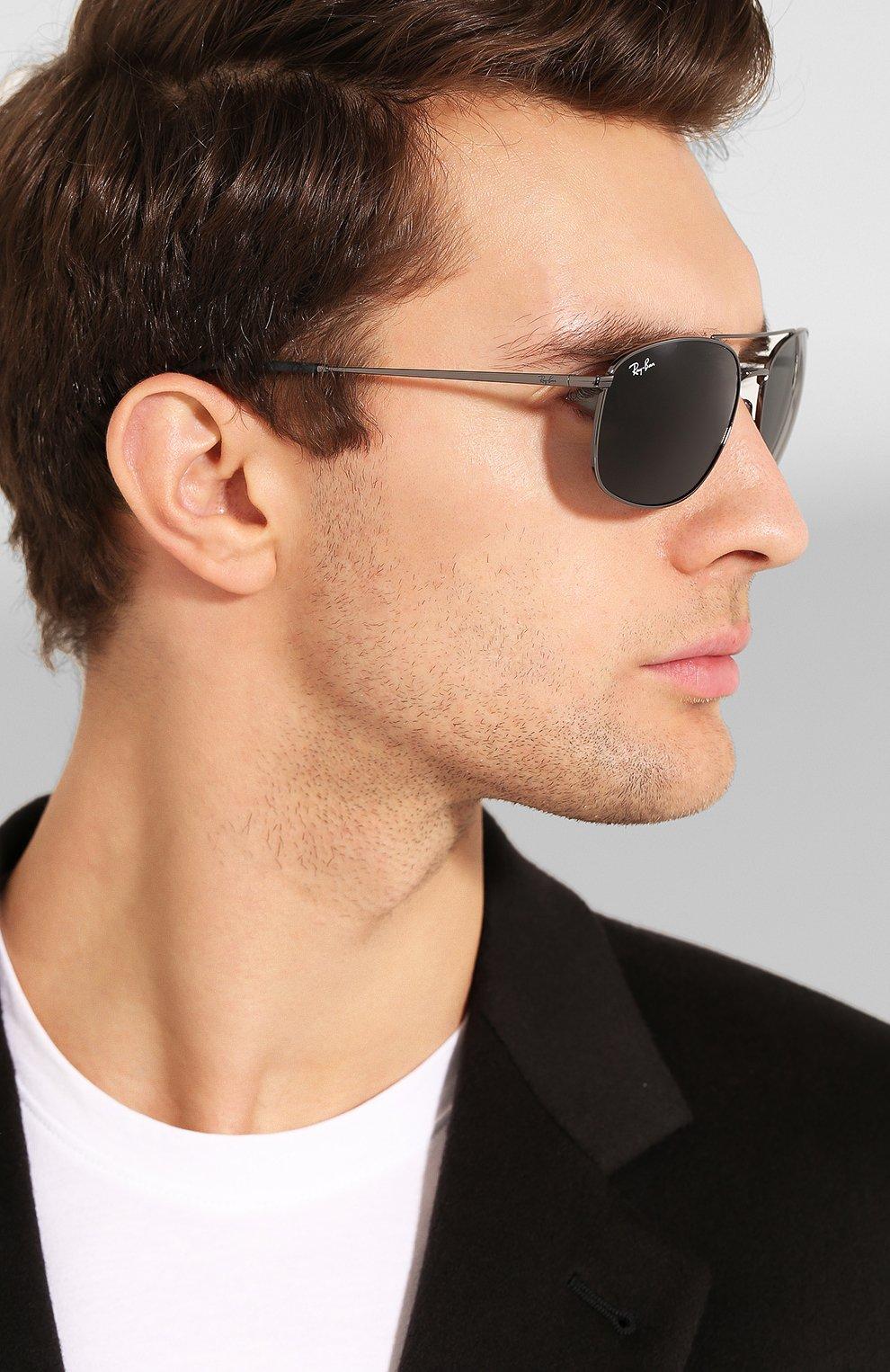 Мужские солнцезащитные очки RAY-BAN темно-серого цвета, арт. 3654-004/87   Фото 2