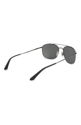 Мужские солнцезащитные очки RAY-BAN темно-серого цвета, арт. 3654-004/87   Фото 4