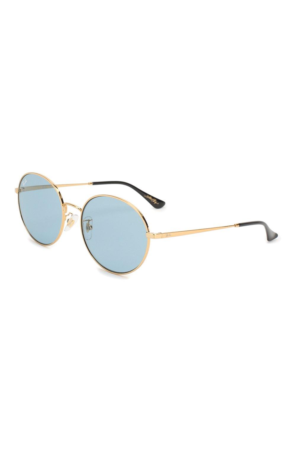 Женские солнцезащитные очки RAY-BAN голубого цвета, арт. 3612-001/80   Фото 1