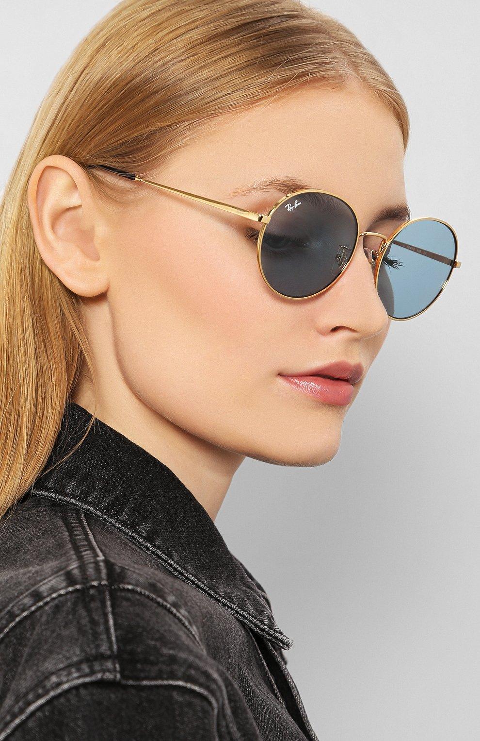 Женские солнцезащитные очки RAY-BAN голубого цвета, арт. 3612-001/80   Фото 2