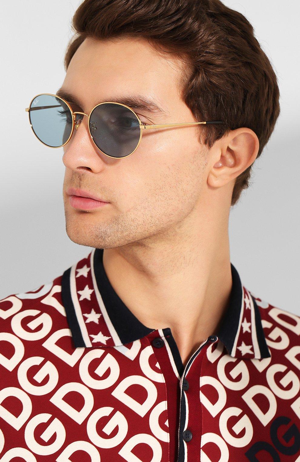 Женские солнцезащитные очки RAY-BAN голубого цвета, арт. 3612-001/80   Фото 3