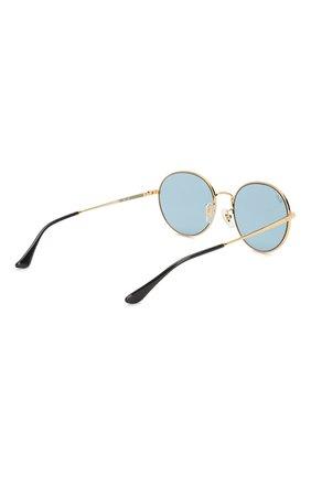 Женские солнцезащитные очки RAY-BAN голубого цвета, арт. 3612-001/80   Фото 5