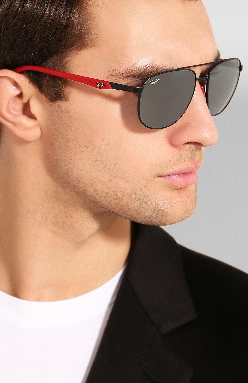 Мужские солнцезащитные очки RAY-BAN черного цвета, арт. 3659M-F0026G   Фото 2