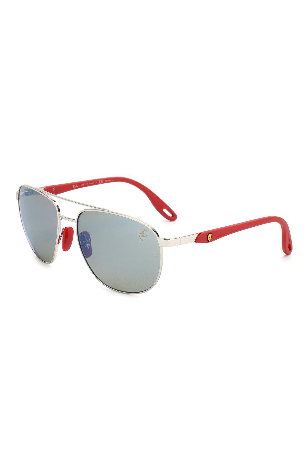 Мужские солнцезащитные очки RAY-BAN серебряного цвета, арт. 3659M-F031H0   Фото 1