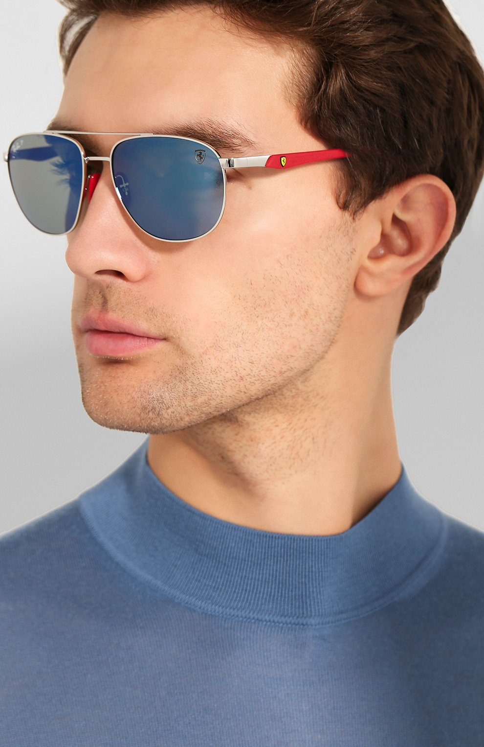 Мужские солнцезащитные очки RAY-BAN серебряного цвета, арт. 3659M-F031H0   Фото 2