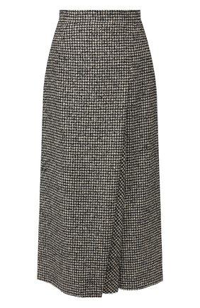 Женская шерстяная юбка ESCADA черно-белого цвета, арт. 5031612 | Фото 1