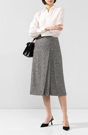 Женская шерстяная юбка ESCADA черно-белого цвета, арт. 5031612 | Фото 2