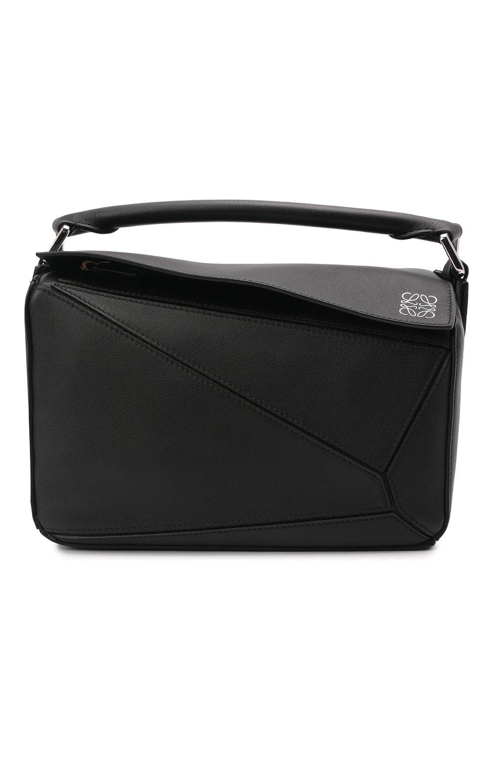 Женская сумка puzzle LOEWE черного цвета, арт. 322.30.S21   Фото 1