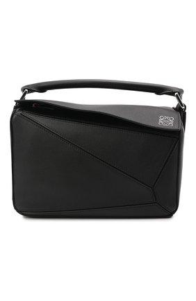 Женская сумка puzzle LOEWE черного цвета, арт. 322.30.S21 | Фото 1