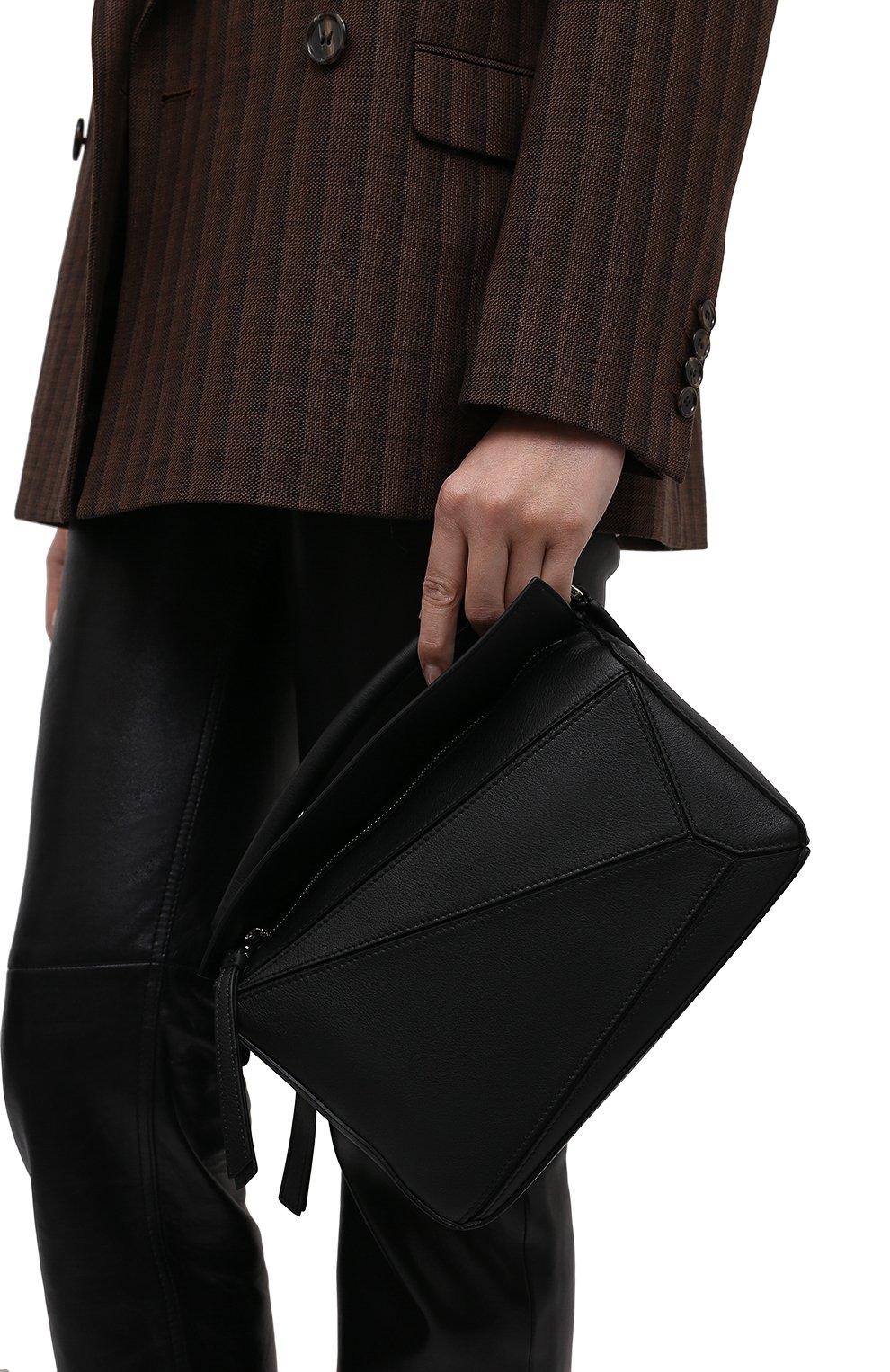 Женская сумка puzzle LOEWE черного цвета, арт. 322.30.S21   Фото 2