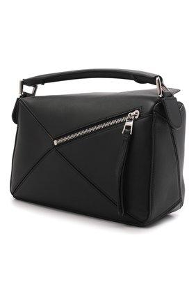 Женская сумка puzzle LOEWE черного цвета, арт. 322.30.S21   Фото 4