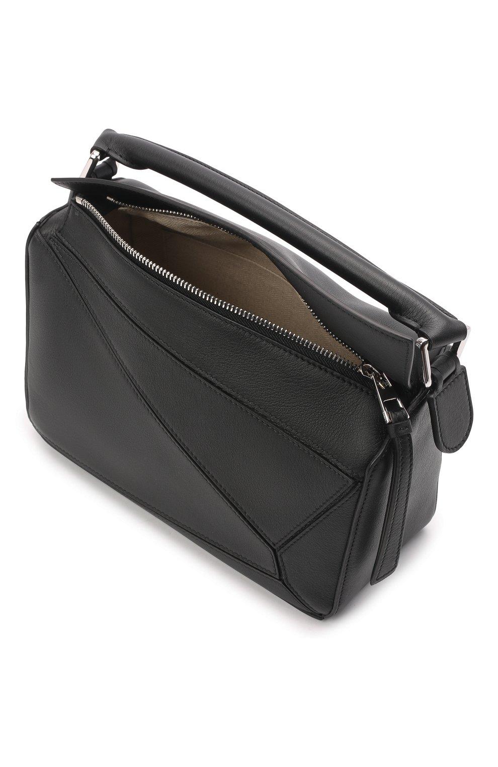 Женская сумка puzzle LOEWE черного цвета, арт. 322.30.S21   Фото 5
