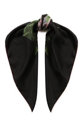 Женский шелковый платок valentino x undercover VALENTINO черного цвета, арт. SW0EI114/ZWB   Фото 1