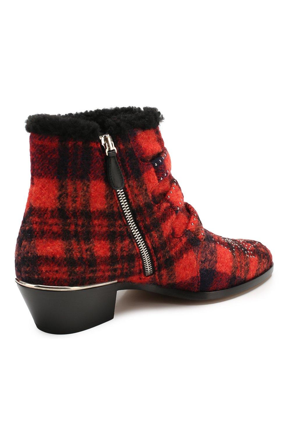 Женские ботинки susanna CHLOÉ красного цвета, арт. CHC19W134H1 | Фото 4