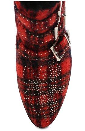 Женские ботинки susanna CHLOÉ красного цвета, арт. CHC19W134H1 | Фото 5