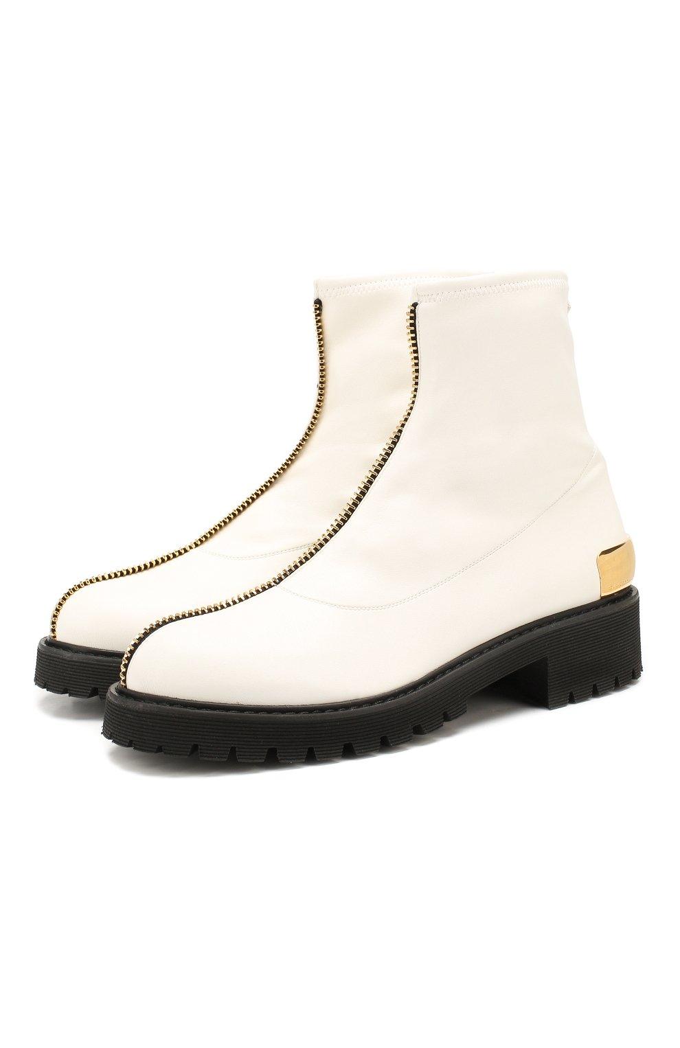 Женские кожаные ботинки GIUSEPPE ZANOTTI DESIGN белого цвета, арт. I970037/002 | Фото 1