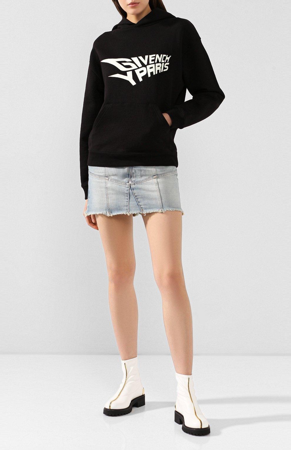 Женские кожаные ботинки GIUSEPPE ZANOTTI DESIGN белого цвета, арт. I970037/002 | Фото 2