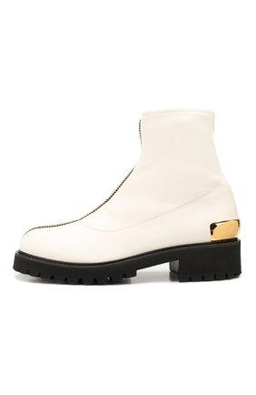 Женские кожаные ботинки GIUSEPPE ZANOTTI DESIGN белого цвета, арт. I970037/002 | Фото 3