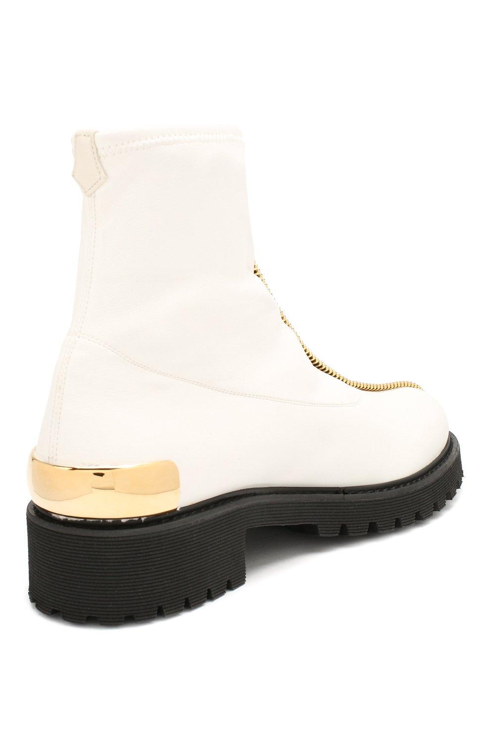 Женские кожаные ботинки GIUSEPPE ZANOTTI DESIGN белого цвета, арт. I970037/002 | Фото 4