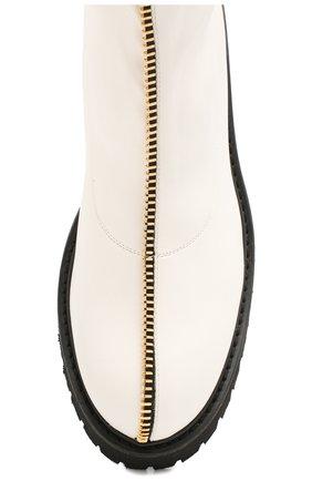 Женские кожаные ботинки GIUSEPPE ZANOTTI DESIGN белого цвета, арт. I970037/002 | Фото 5