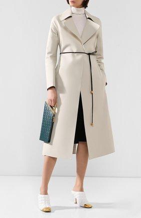 Женские кожаные мюли BOTTEGA VENETA белого цвета, арт. 592041/VBRR0 | Фото 2