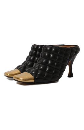 Женские кожаные мюли BOTTEGA VENETA черного цвета, арт. 592041/VBRR0 | Фото 1