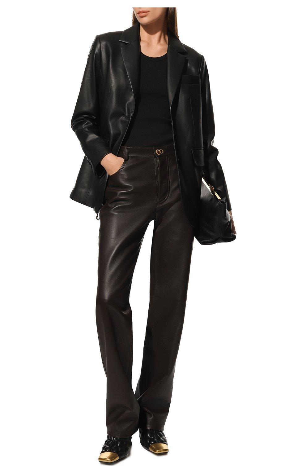 Женские кожаные мюли BOTTEGA VENETA черного цвета, арт. 592041/VBRR0   Фото 2