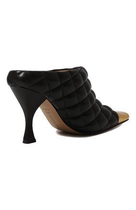Женские кожаные мюли BOTTEGA VENETA черного цвета, арт. 592041/VBRR0   Фото 5