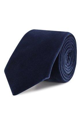 Мужской хлопковый галстук RALPH LAUREN темно-синего цвета, арт. 791780108 | Фото 1