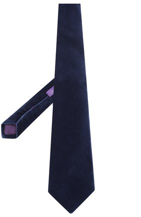 Мужской хлопковый галстук RALPH LAUREN темно-синего цвета, арт. 791780108 | Фото 2